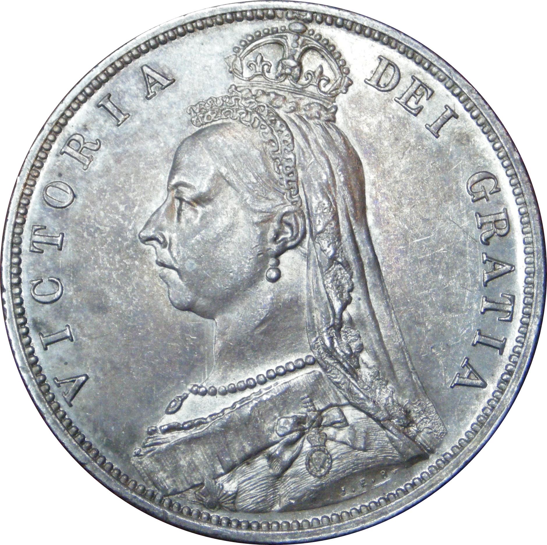 1887 QV half crown & 1935 GV Florin – Numista