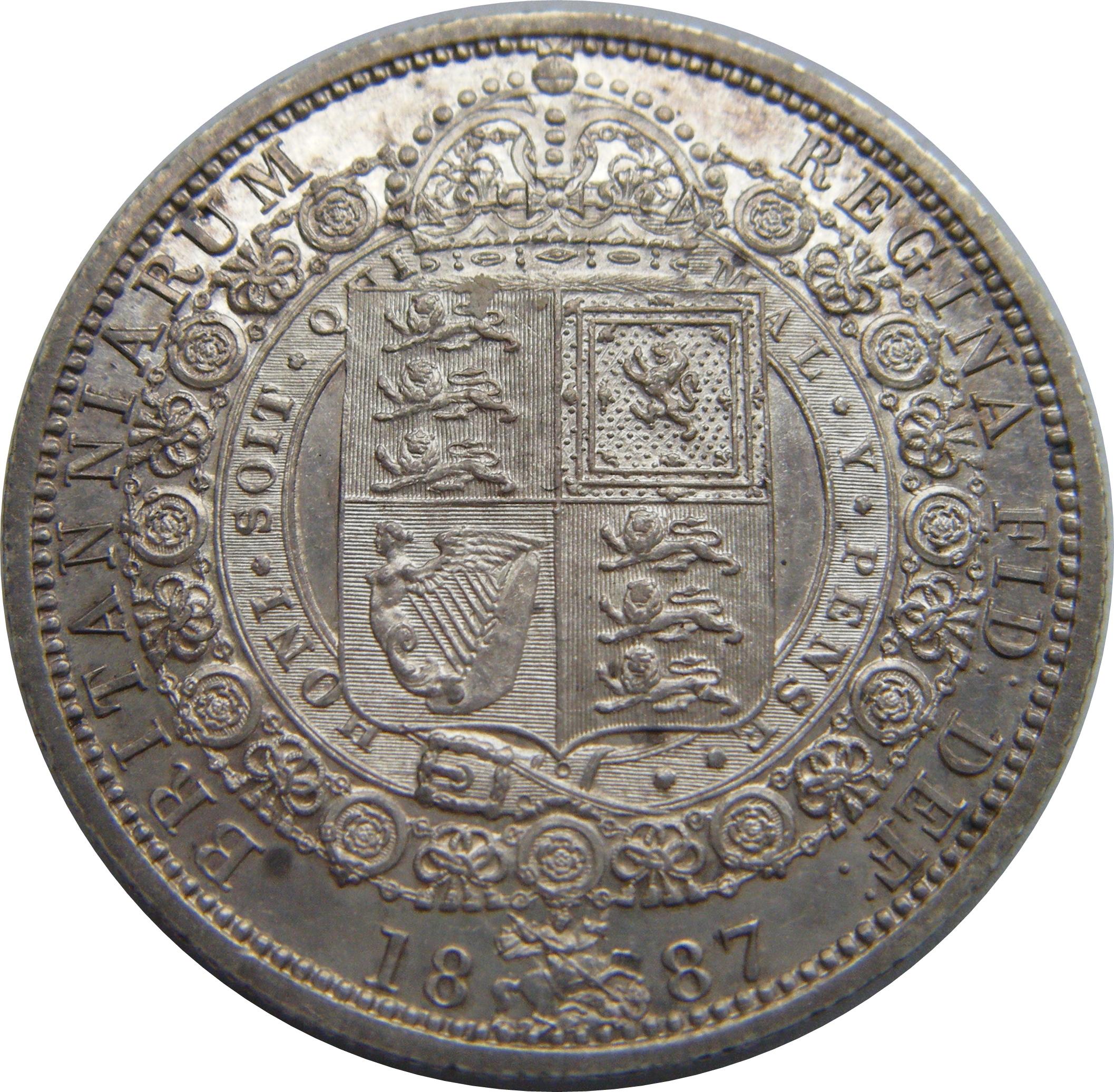 1887 Victoria Half Crown possible proof – Numista