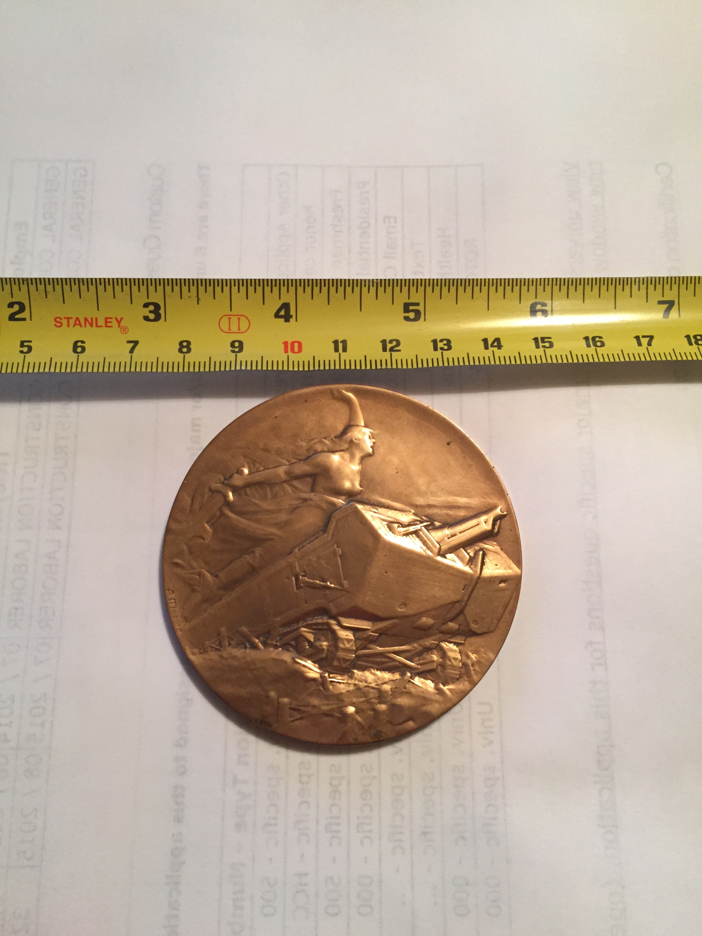 tokens comes medallion centennial ontario also in industry catalogue canadian mining coin brass