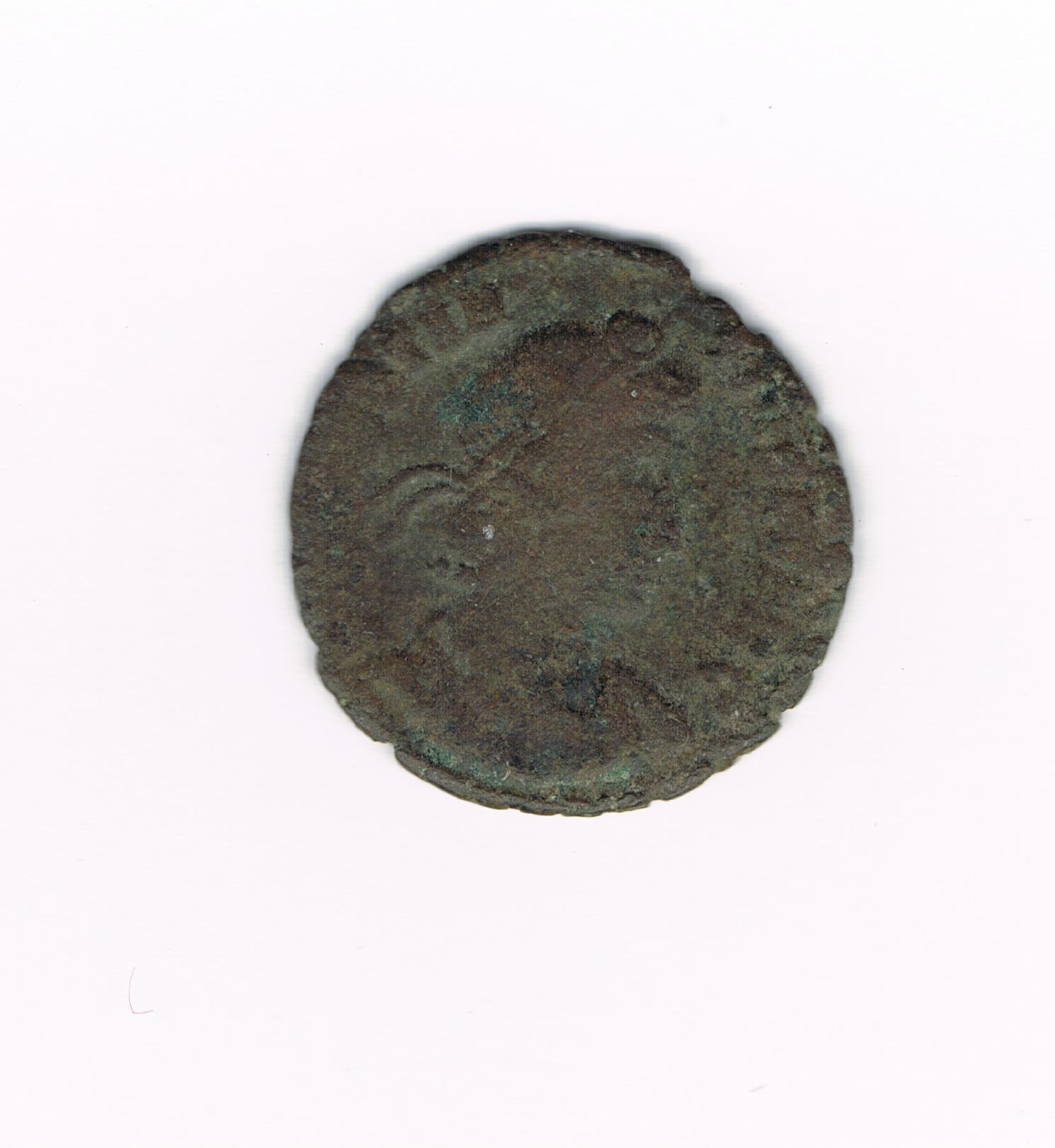 AE3 de Constancio II. FEL TEMP REPARATIO. Soldado romano alanceando a jinete caido. Ceca Roma. 586f657db341a