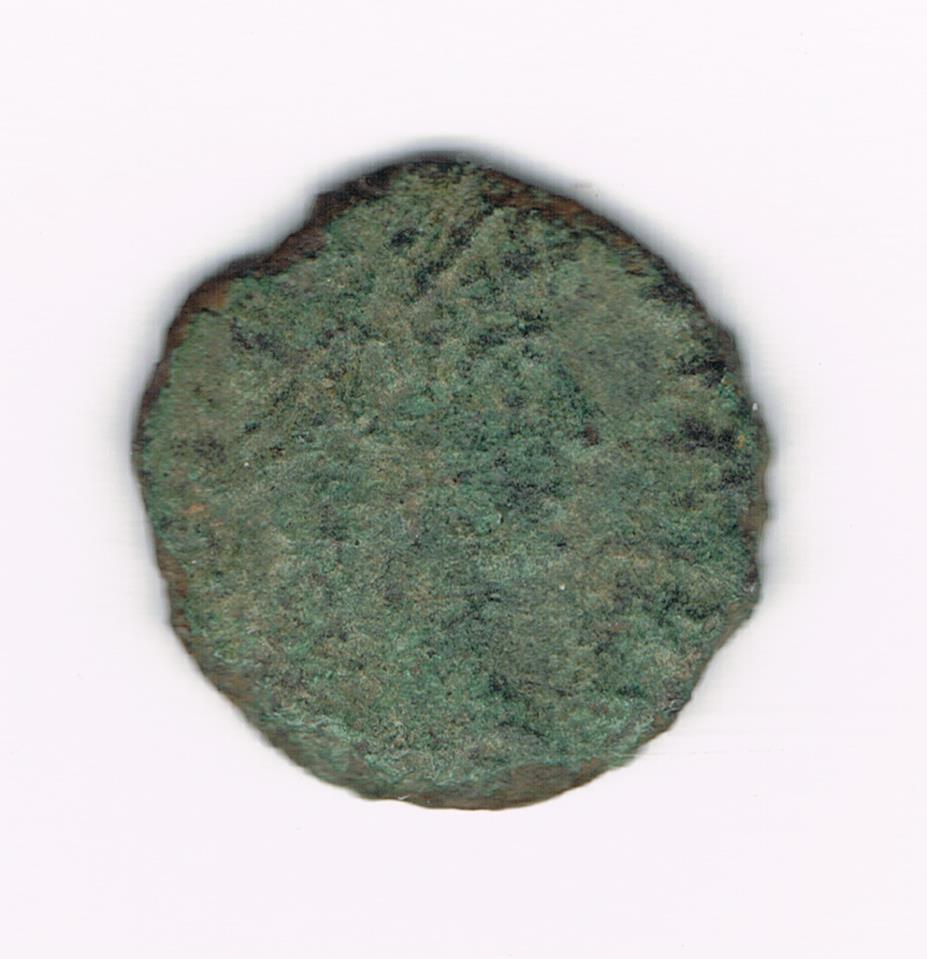 AE4 bajo imperio tipo GLORIA EXERCITVS, estandarte entre dos soldados. 58727df90e9af