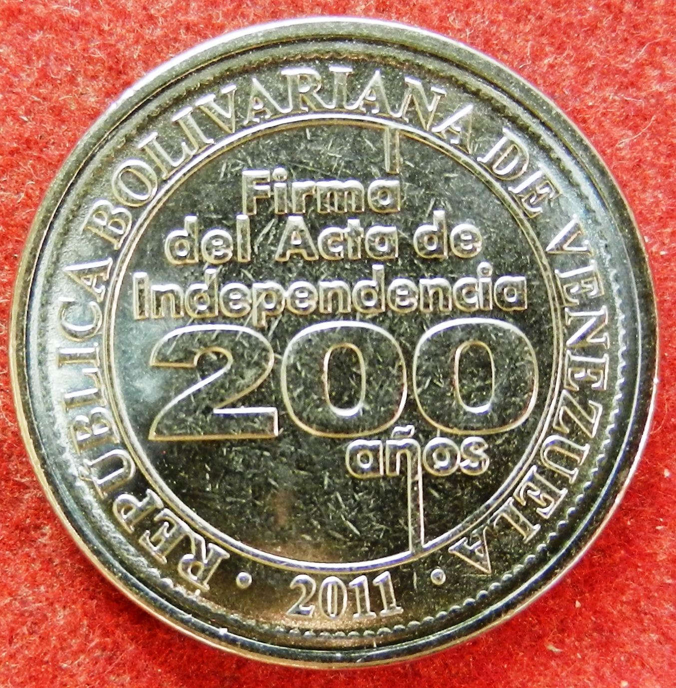 Venezuela 25 Centavos Y99 Not Only 2010 But 2011 As Well