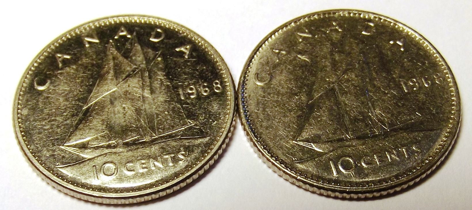 1986 CANADA 10 CENTS PROOF-LIKE COIN