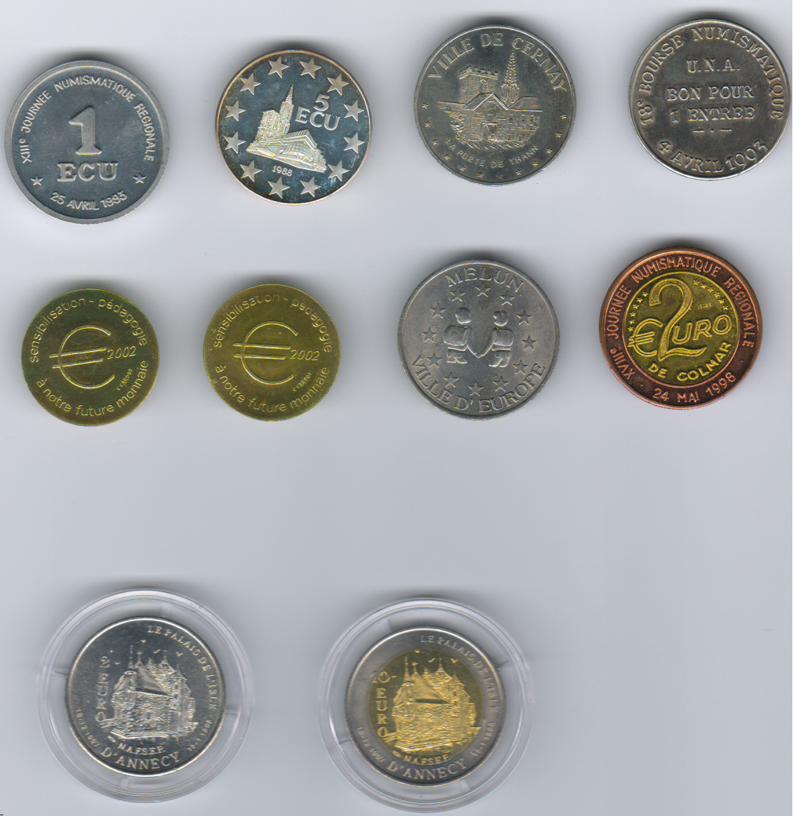 Ok Numistas Which Are Real Euro Coins And Tokens Suggestions If Any How Can I Add Them To The Catalogue They Not In