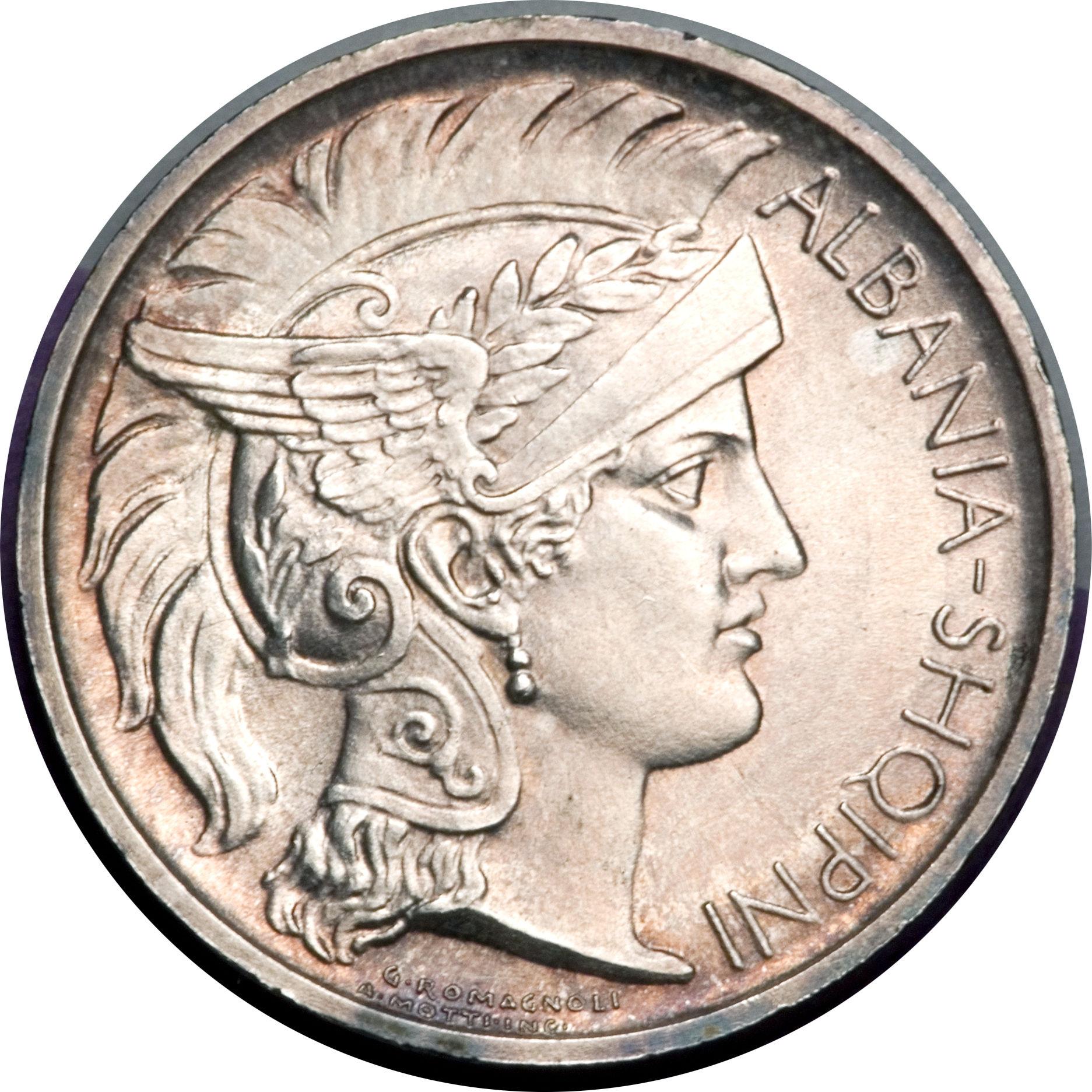 albanian coin