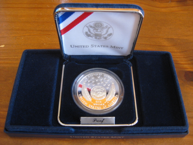 2004 Lewis /& Clark Bicentennial PROOF 90/% Silver Dollar US Mint Coin Box and COA