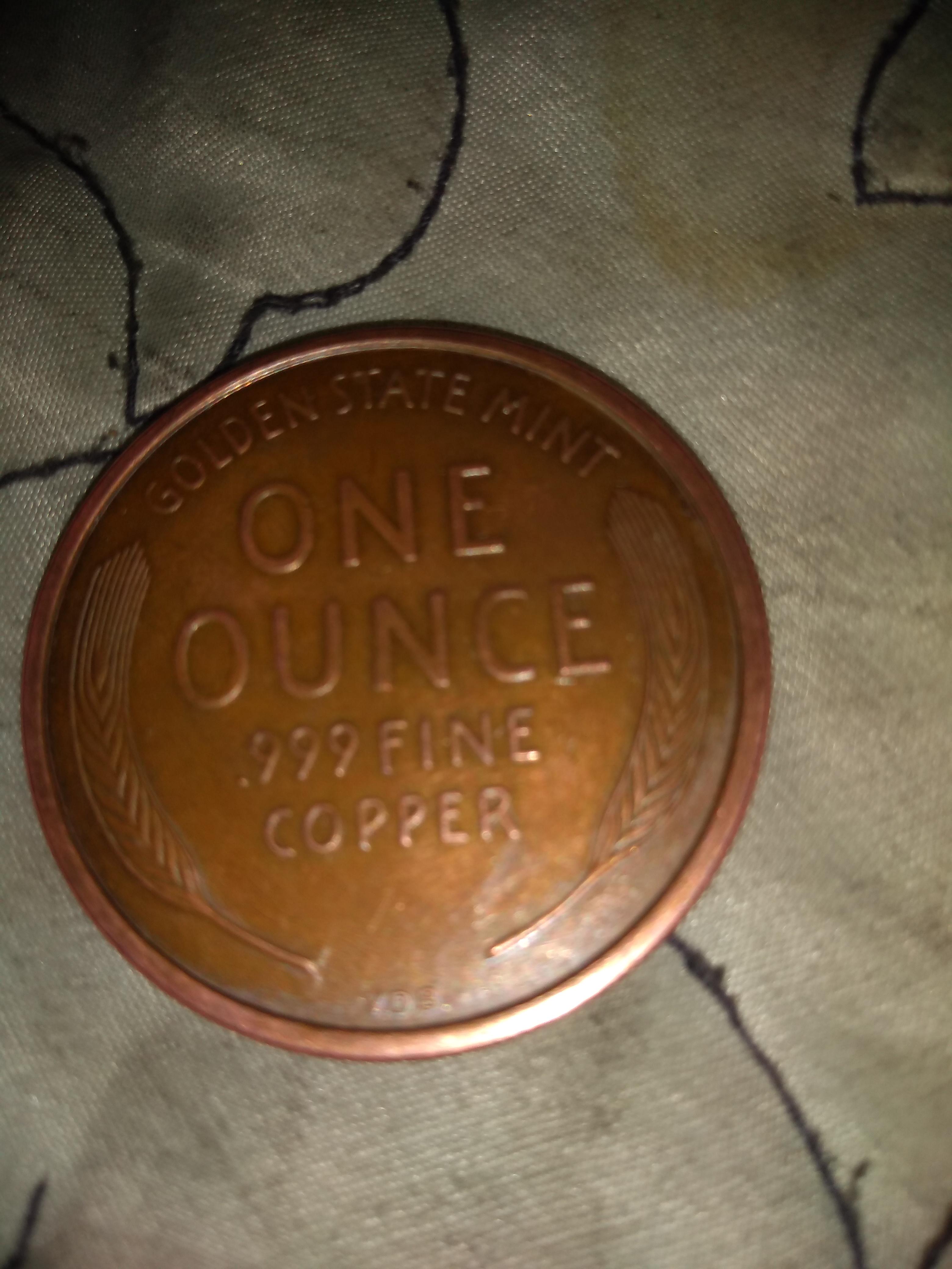 1909 Lincoln Cent • 10 New Coins • 1 oz each .999 Copper Bullion