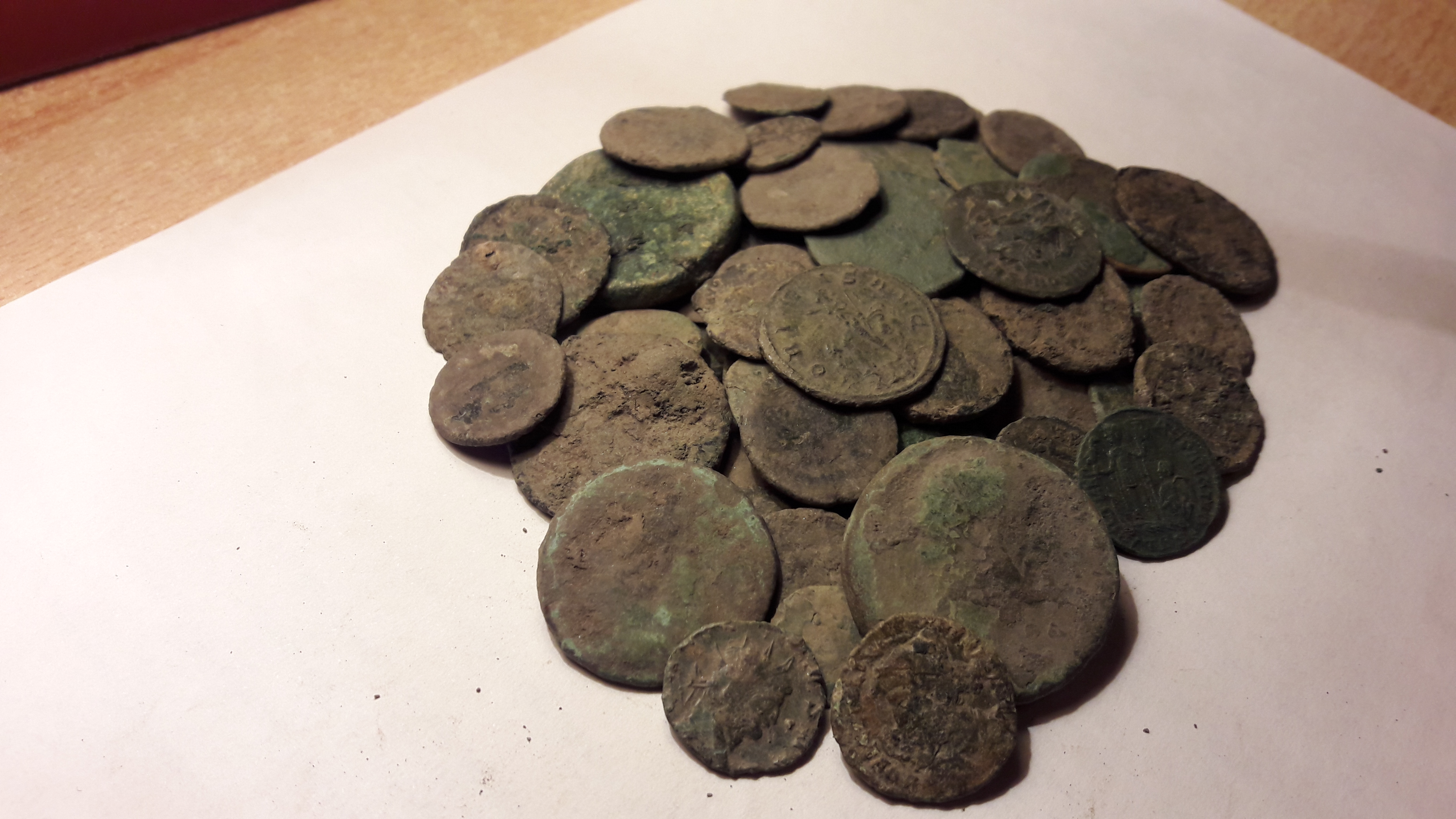 Uncleaned ancient Roman coin lot for sale – Numista
