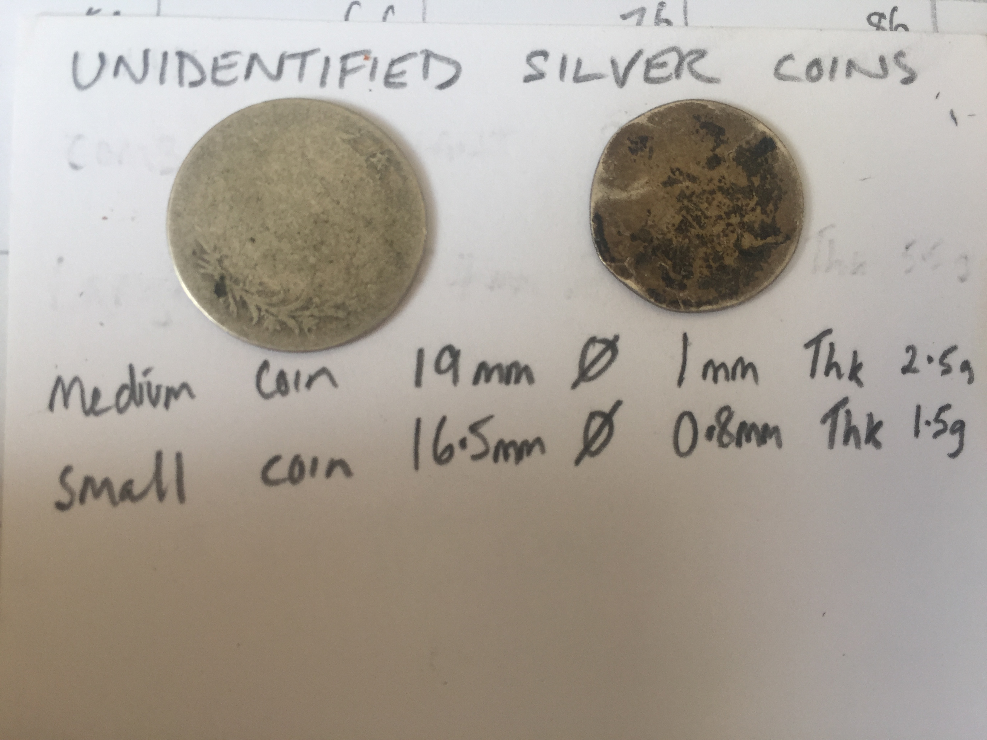 Please help me identify these heavily worn silver coins
