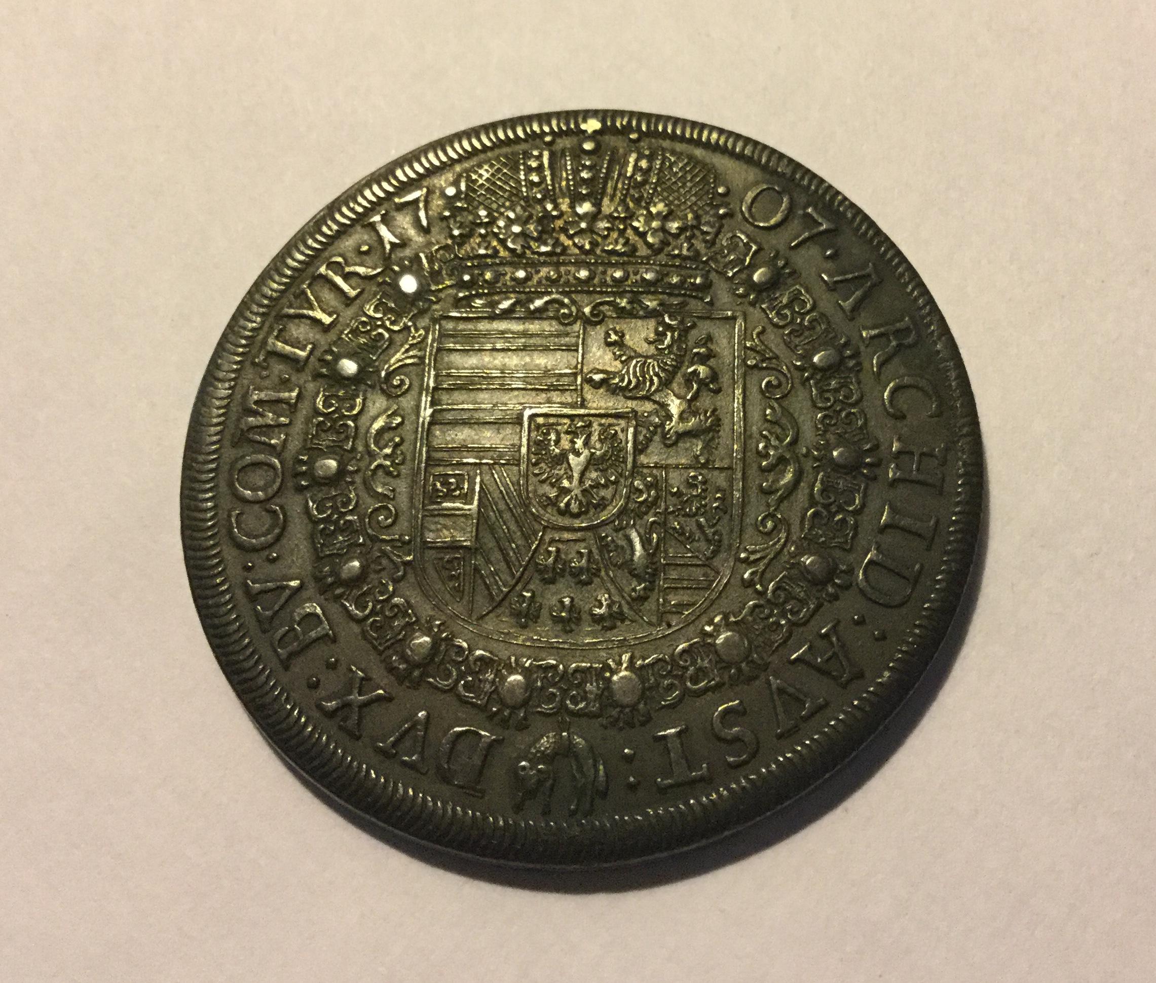 1707 IOSEPHUS broad silver thaler coin - value sought