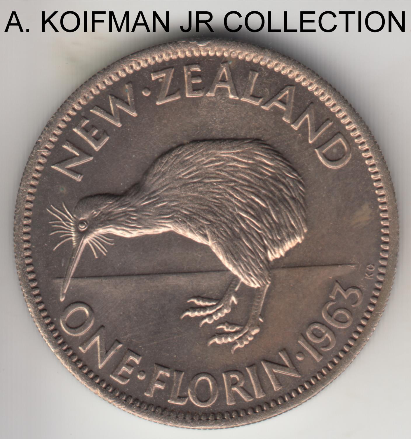 New Zealand 50 Cents 1968 KM#31 32 34-37 20 10 5 2 17 Coin Mint Specimen Set.