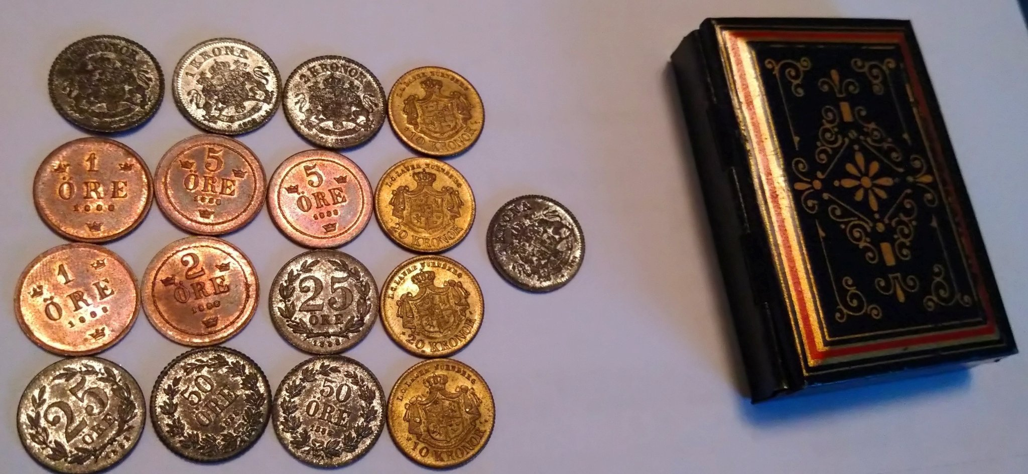 large toy coins