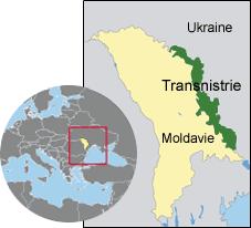 Carte de la Transnistrie