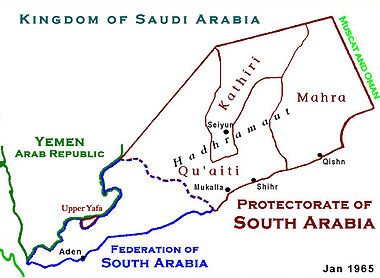 Carte du historique Yémen